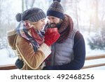 they found a shelter to hide | Shutterstock . vector #492468256