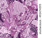 tracery seamless calming... | Shutterstock .eps vector #492474595