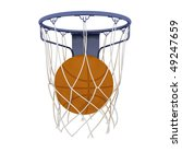 two basketball items isolated... | Shutterstock . vector #49247659