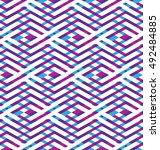 bright rhythmic textured... | Shutterstock .eps vector #492484885