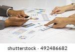 business start up co working... | Shutterstock . vector #492486682