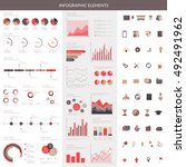 infographic elements set. easy... | Shutterstock .eps vector #492491962