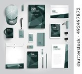 corporate identity stationery... | Shutterstock .eps vector #492497872