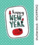 Happy New Year Lettering...