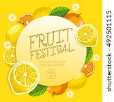 fruit festival   fruit elements ... | Shutterstock .eps vector #492501115