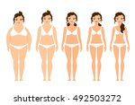 cartoon woman before and after... | Shutterstock .eps vector #492503272