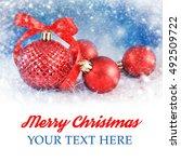 christmas background | Shutterstock . vector #492509722