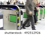 station automatic ticket tokyo | Shutterstock . vector #492512926
