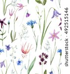 watercolor floral pattern on a... | Shutterstock . vector #492515146
