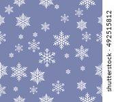 snowflake vector pattern. | Shutterstock .eps vector #492515812