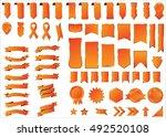ribbon orange vector icon on... | Shutterstock .eps vector #492520108
