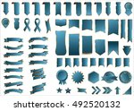 ribbon blue vector icon on... | Shutterstock .eps vector #492520132