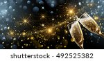 new year fireworks and... | Shutterstock .eps vector #492525382