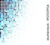 blue random dots background ... | Shutterstock .eps vector #492525916