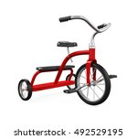 Kids Tricycle Isolated. 3D rendering