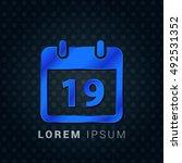 19th calendar blue metallic...