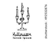 candlestick  candleholder ... | Shutterstock .eps vector #492532876
