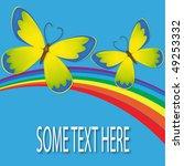 butterflies and rainbow | Shutterstock .eps vector #49253332