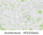 vector city map of birmingham ... | Shutterstock .eps vector #492533662