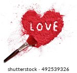 love on heart shaped crushed...   Shutterstock . vector #492539326