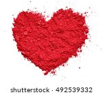 heart shape of makeup isolated... | Shutterstock . vector #492539332