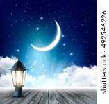 night sky background with... | Shutterstock .eps vector #492546226