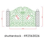 Door Gate  Vector Iron Work...
