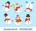 cute snowman set