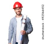 architect man smiling | Shutterstock . vector #492566452