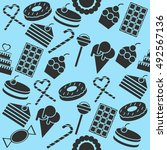 cafe and confectionery icon set.... | Shutterstock . vector #492567136