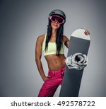 Smiling Brunette Female In A...
