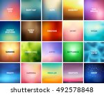 big set of 20 square blurred... | Shutterstock .eps vector #492578848