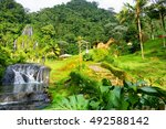 view of the hot springs of... | Shutterstock . vector #492588142