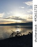 Small photo of Sunset at ake Ohrid, Macedonia
