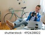 professional photographer...   Shutterstock . vector #492628822