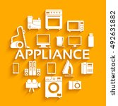 home electronics appliances... | Shutterstock .eps vector #492631882