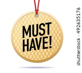 vector must have label tag icon ...   Shutterstock .eps vector #492635176