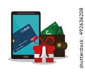shopping commerce and market... | Shutterstock .eps vector #492636208