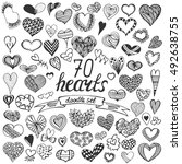 hand drawn big collection of... | Shutterstock .eps vector #492638755