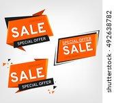 sale banner design. sale tag... | Shutterstock . vector #492638782