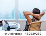 Business Woman Relaxing Workin...