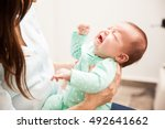 portrait of a cute newborn baby ... | Shutterstock . vector #492641662