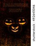 halloween dark background.... | Shutterstock .eps vector #492645046