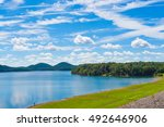 summer view of local lake cave... | Shutterstock . vector #492646906