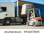 Loading Works. Forklift With...