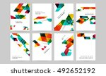 geometric background template... | Shutterstock .eps vector #492652192