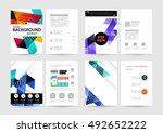 geometric background template... | Shutterstock .eps vector #492652222