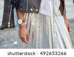 milan   september 22  woman...   Shutterstock . vector #492653266