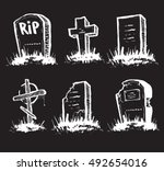 set of tombstones are made from ...