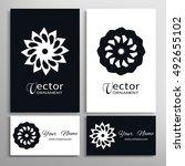 black and white round geometric ...   Shutterstock .eps vector #492655102